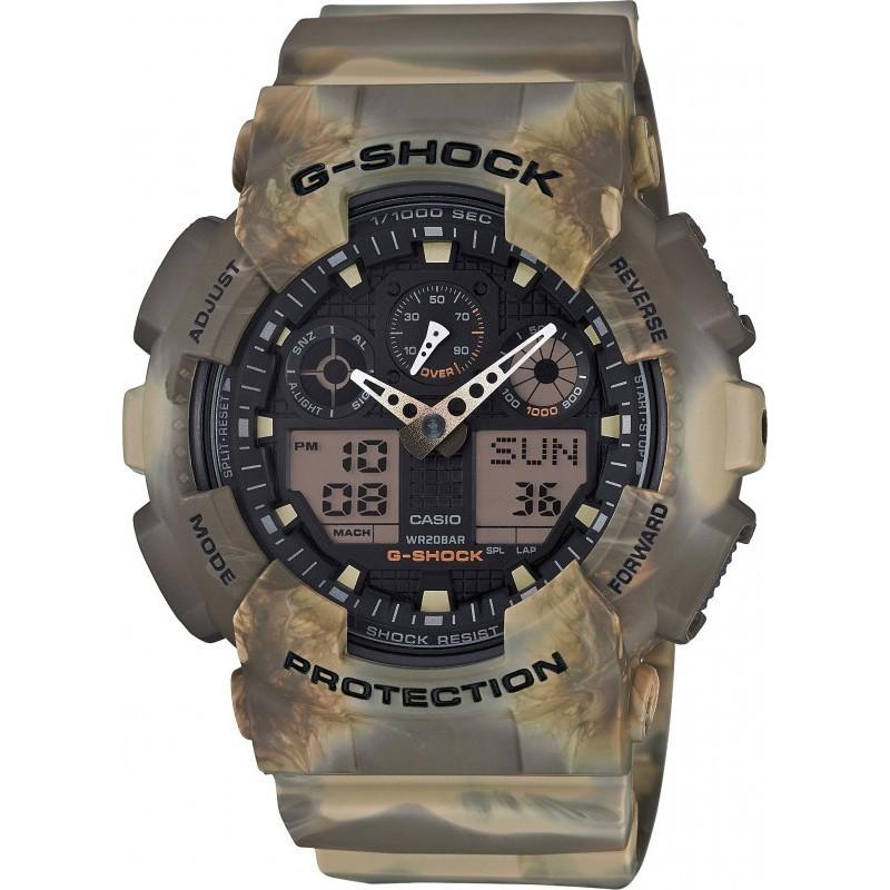 6568779cb01c Orologi Casio - maronogioielli - CASIO G-shock orologio uomo 20ATM crono  mimetico velocita GA-100MM-5AER