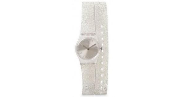 Glistar Reloj Larga Glitter Lk343 Swatch Plata Mujer Correa n0wOkX8P