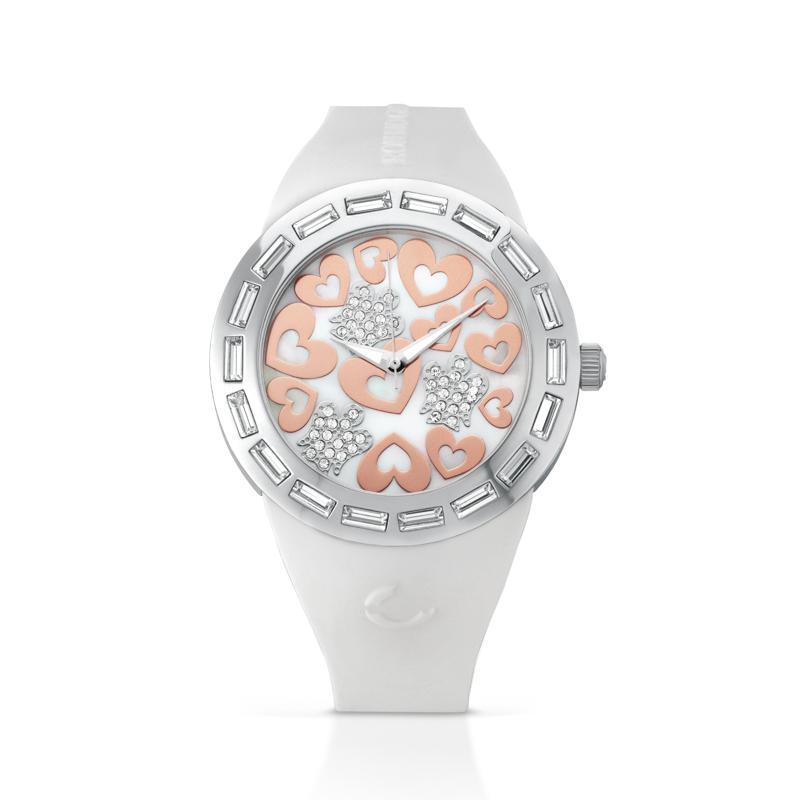 Weiß Frau Stahl Silikon Ant33 Giannotti Uhr Cint Engel Herz FJclK1