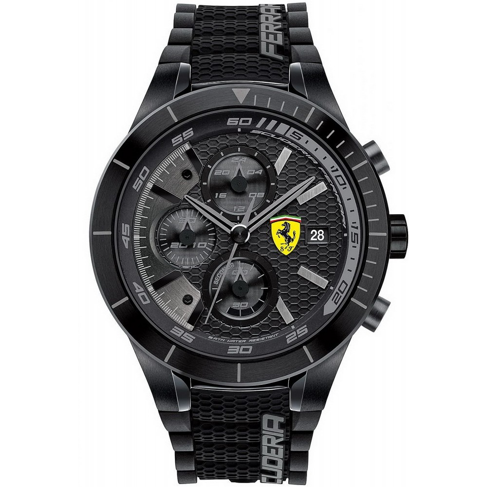 Mens watch FERRARI SCUDERIA chronograph Red Rev EVO case 46mm FE 0830262