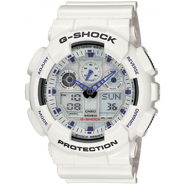 CASIO G-shock mens watch 20ATM chrono antimagnetic speed GA-100A-7AER