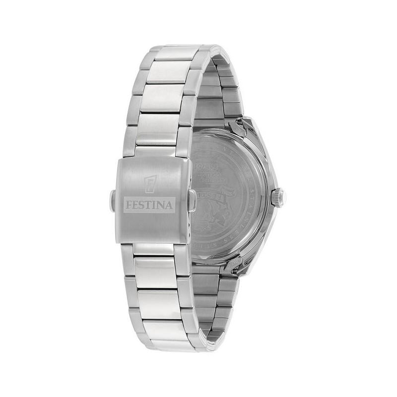 4c85b4ff81d7 ... FESTINA reloj para hombre multifuncional F16750 1 línea blanca de acero  inoxidable de 42 mm ...