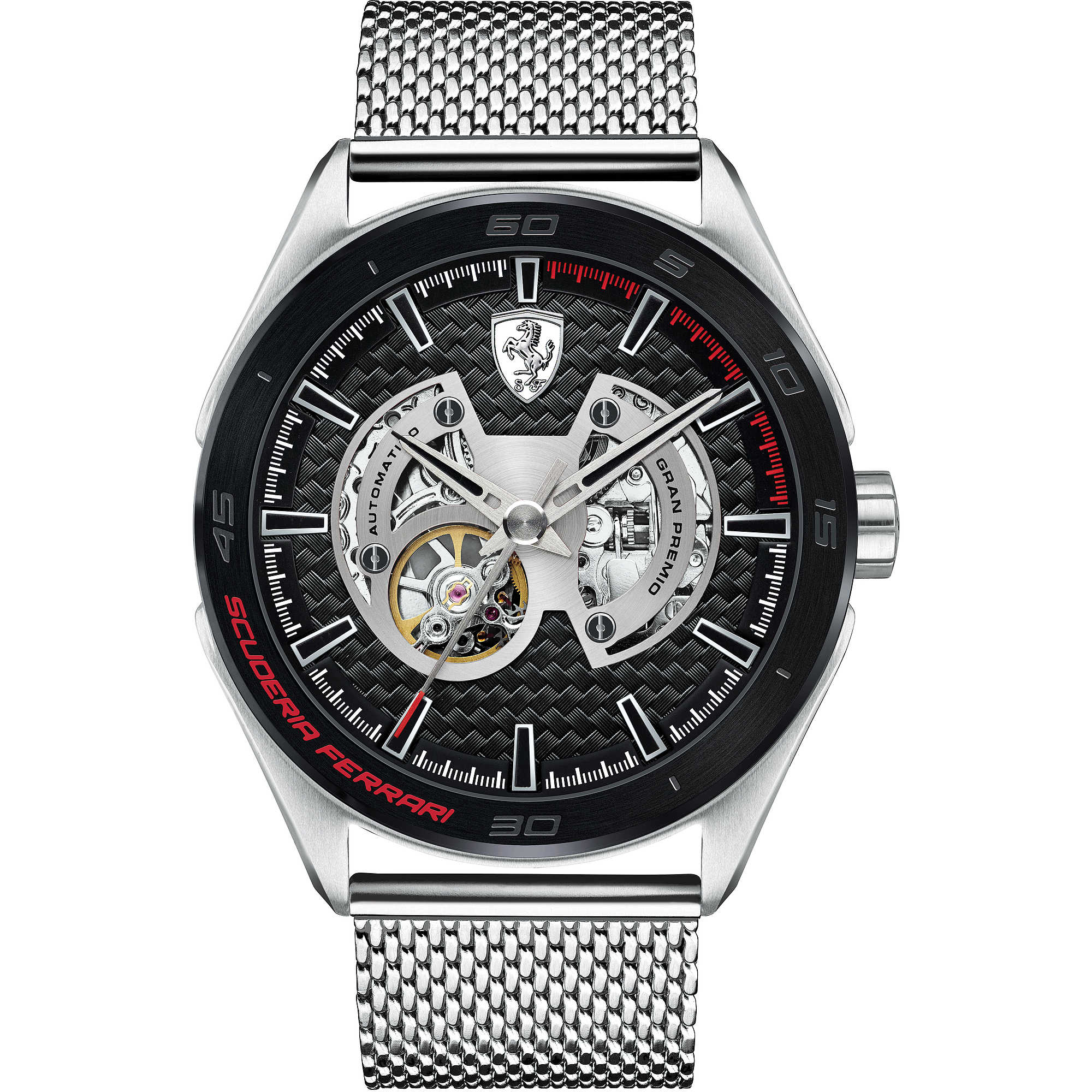SCUDERIA FERRARI transparent man watch GRAND PRIX 47mm FER0830349