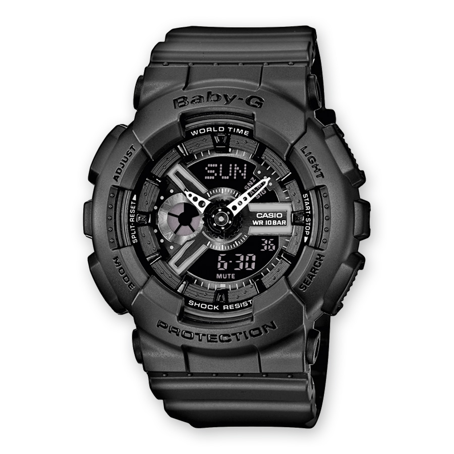 CASIO G-shock mens watch BABY-G chrono calendar alarm antiur BA-110BC-1AER