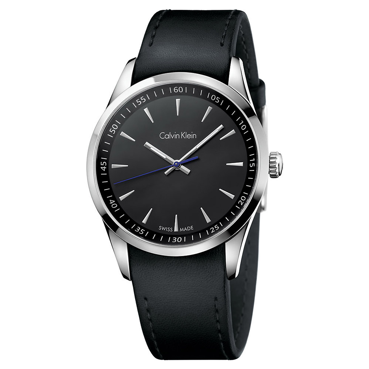 CALVIN KLEIN man Watch BOLD only time black steel 41mm K5A311C1