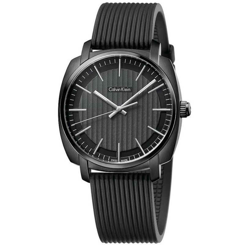 CALVIN KLEIN man Watch HIGHLINE only time black 40mm K5M314D1