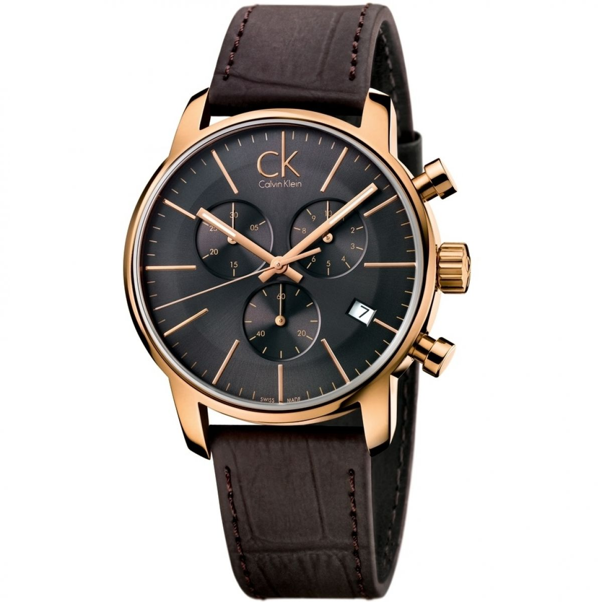 CALVIN KLEIN man Watch CRONO FORMALITY black CHRONOGRAPH 43mm K2G276G3