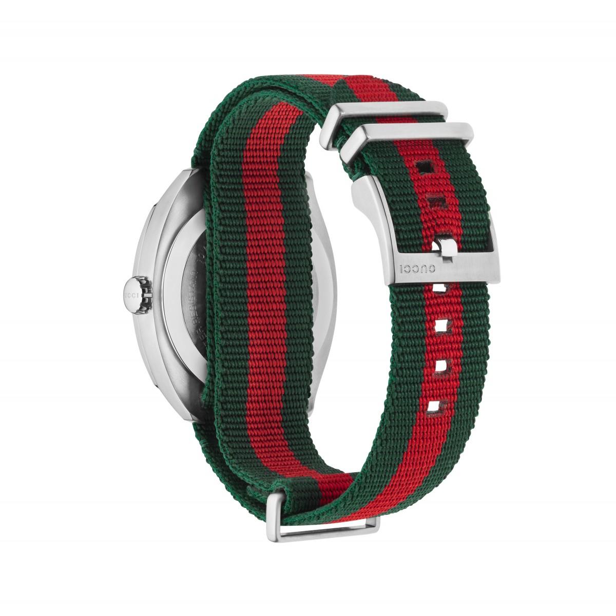 sconto del 50 molto carino vendita più calda GUCCI orologio uomo donna GG2750 verde rosso in tessuto 41mm YA142305