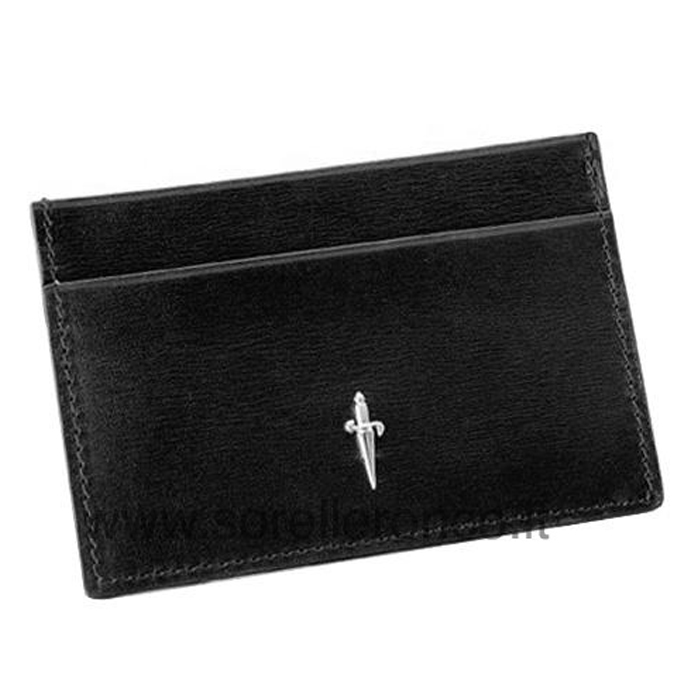 CESARE PACIOTTI men credit card holder documents silver logo SL0051