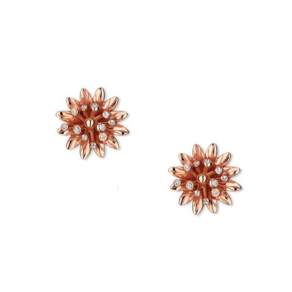 Caricamento dell immagine in corso GUCCI-orecchini-donna-fiori-bottone-FLORA -oro-diamanti- ed43f2dcd30f