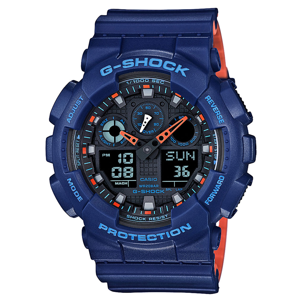 CASIO G-shock man speed auto illumination alarm calendar GA-100L-2AER