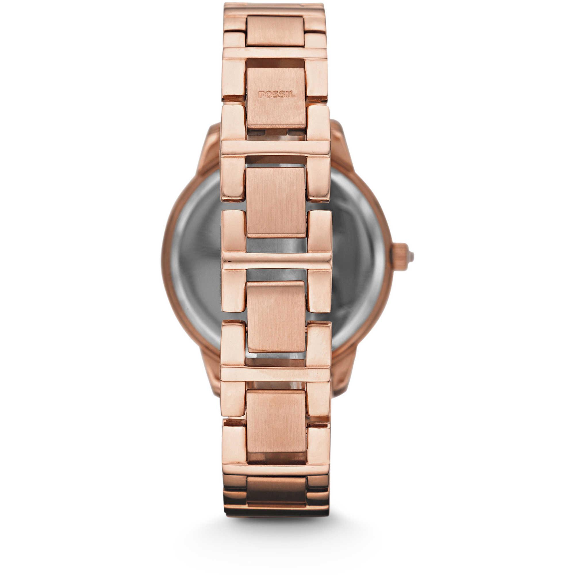 67bcf663972e ... FOSSIL reloj de las mujeres de Brillo de diamantes de imitación. oro  rosa de JESSE ...
