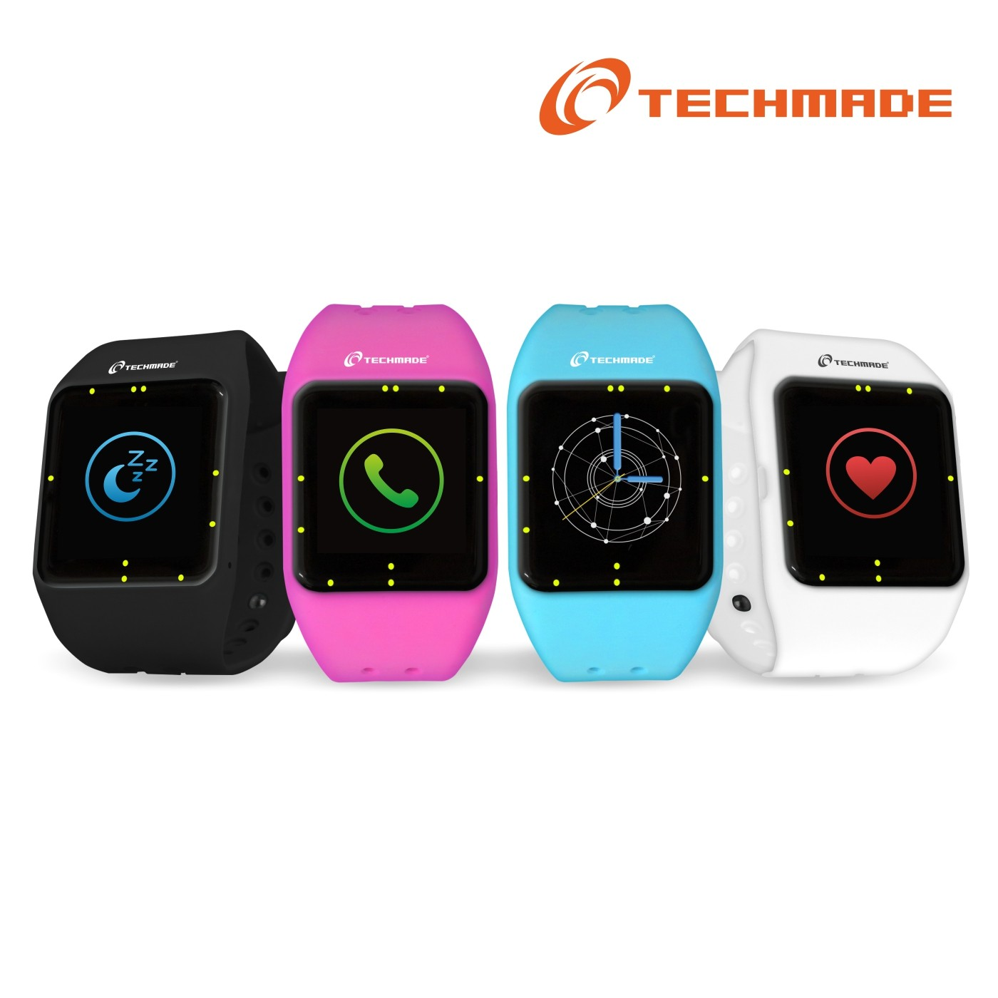 TECHMADE TECHWATCHONE ROSA SMARTWATCH PEDOMETRO CARDIO IPHONE ANDROID