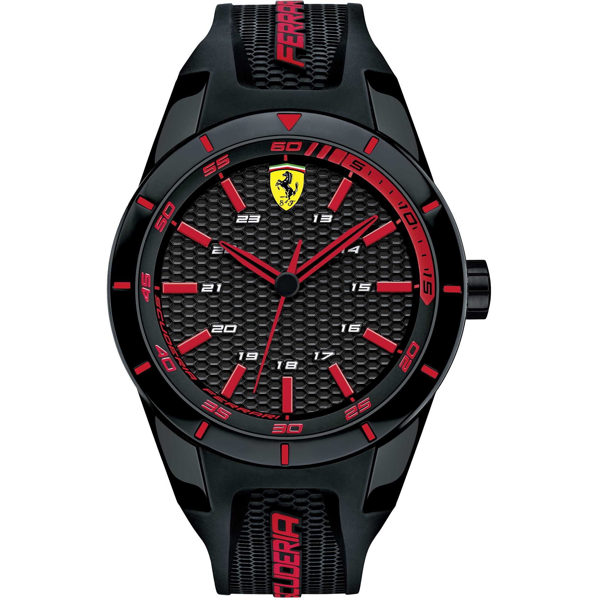 Ferrari watch men silicone black and red redrev coll. fans FER0830245