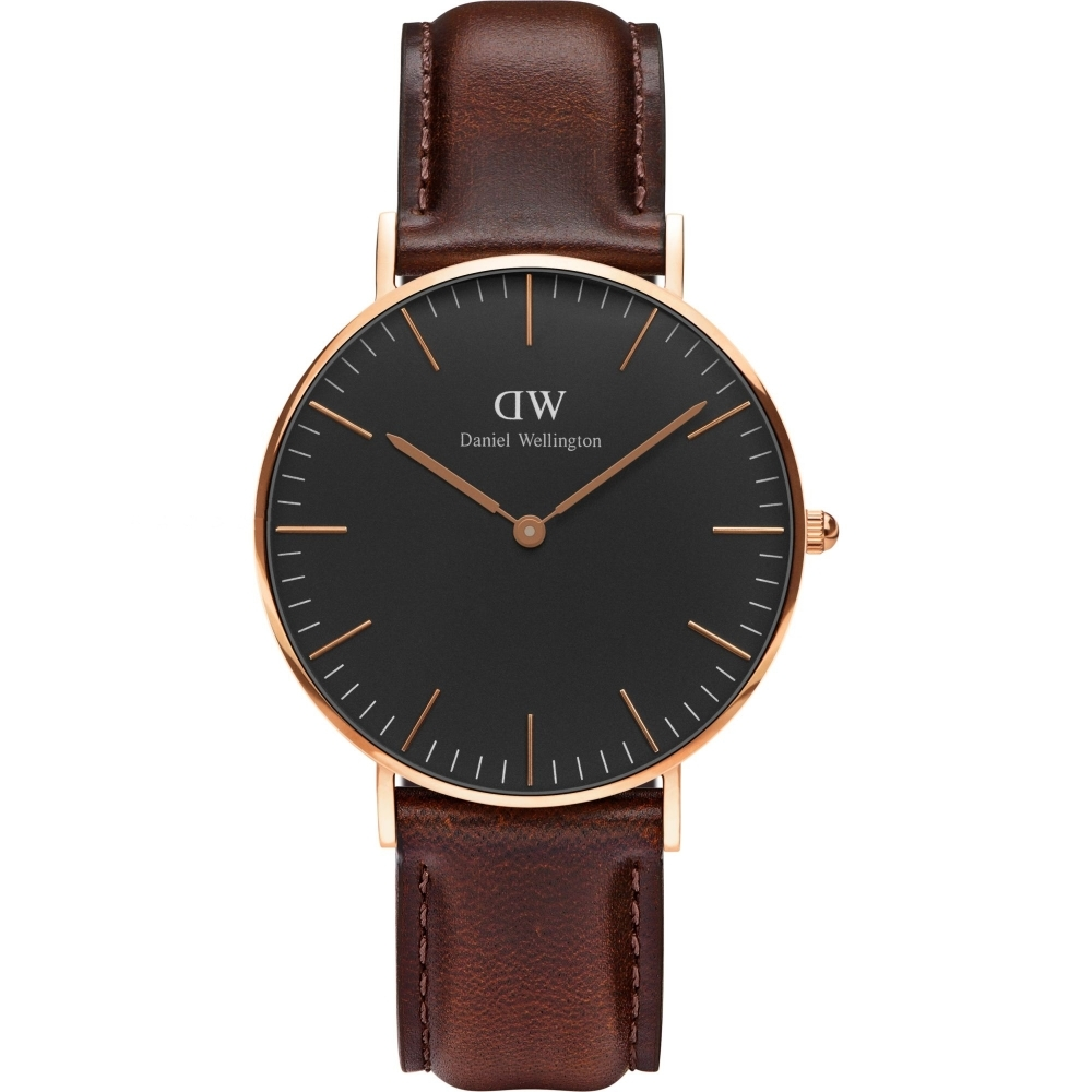 Daniel wellington watch is 36mm unisex classic black bristol rose DW00100137