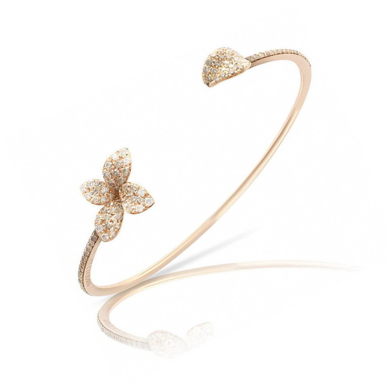 Pasquale Bruni bracelet petit garden in rose gold and diamonds champagne 15424R