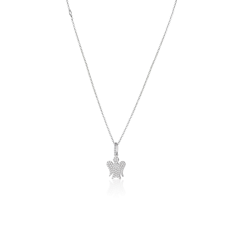 Roberto Giannotti necklace with silver cubic zirconia angel GIA285