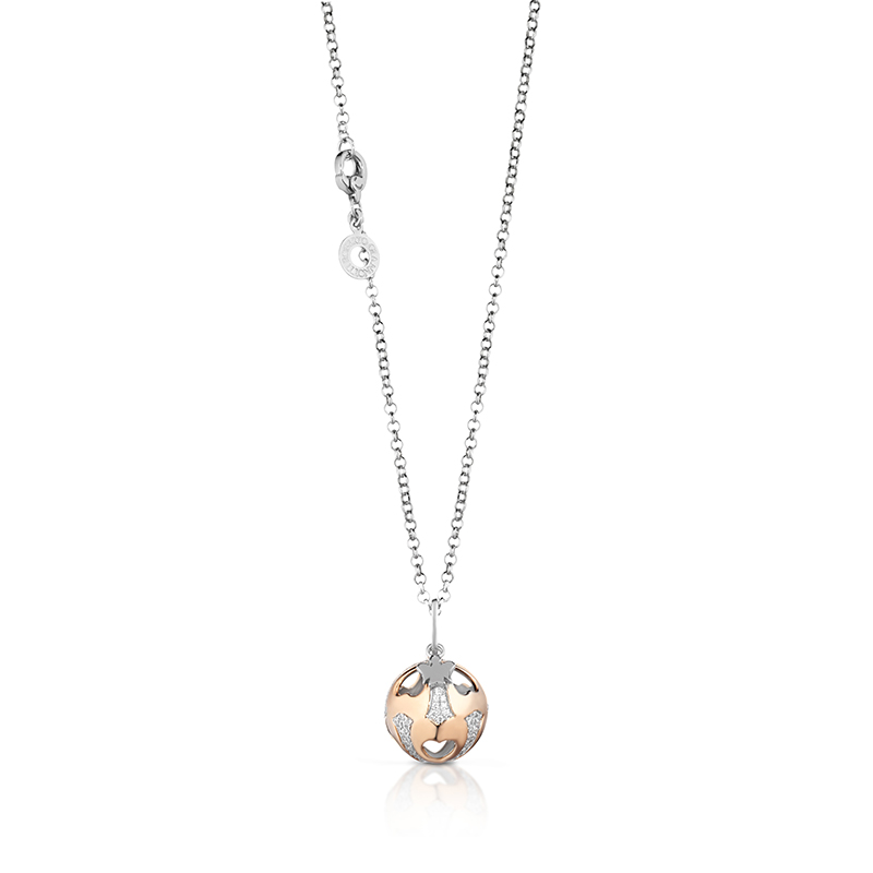 Roberto Giannotti necklace with silver rose cubic zirconia called angels SFA101