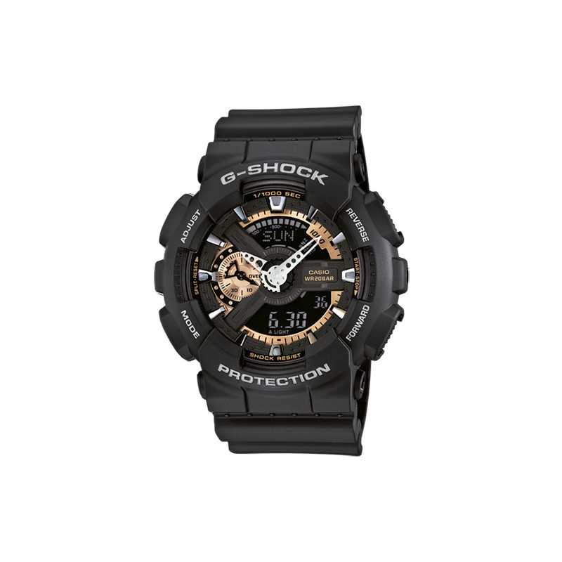 Casio g-shock black water resistant this resist world time GA-110RG-1AER