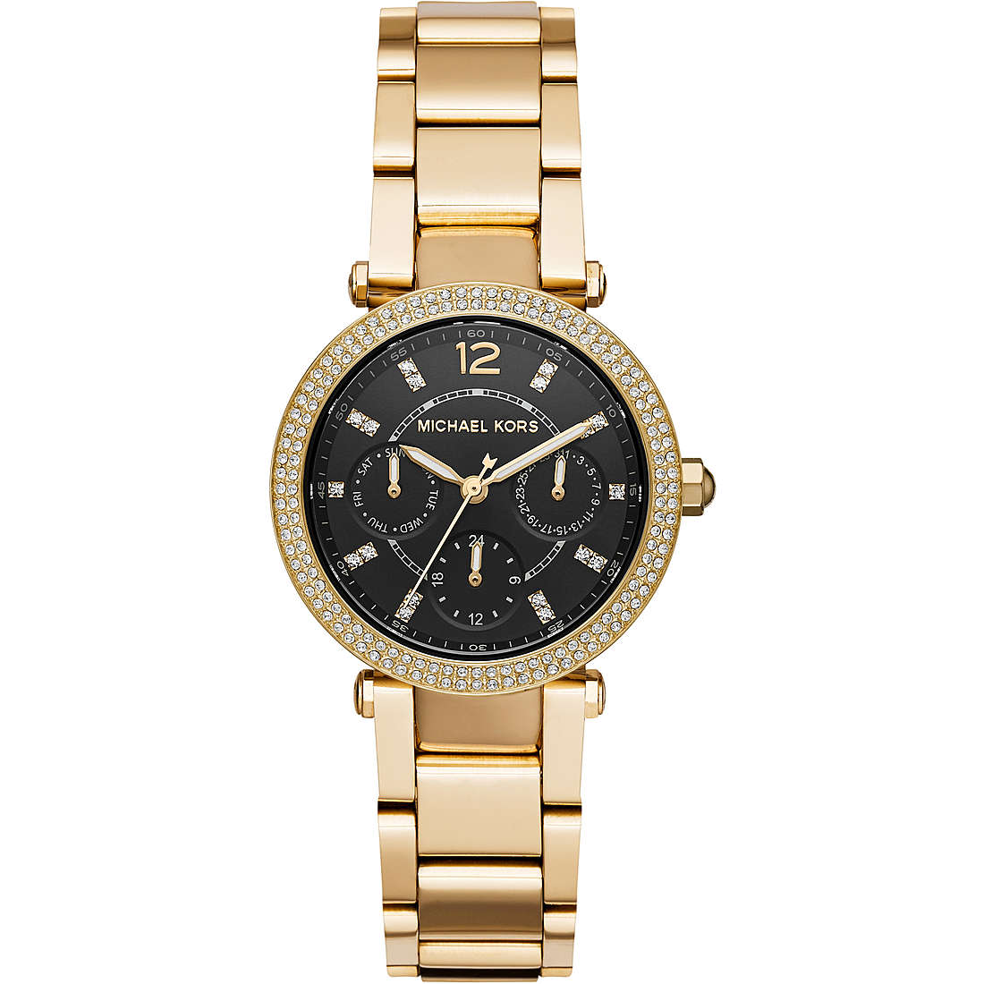 Michael Kors woman watch parker stainless steel gold color MK3790