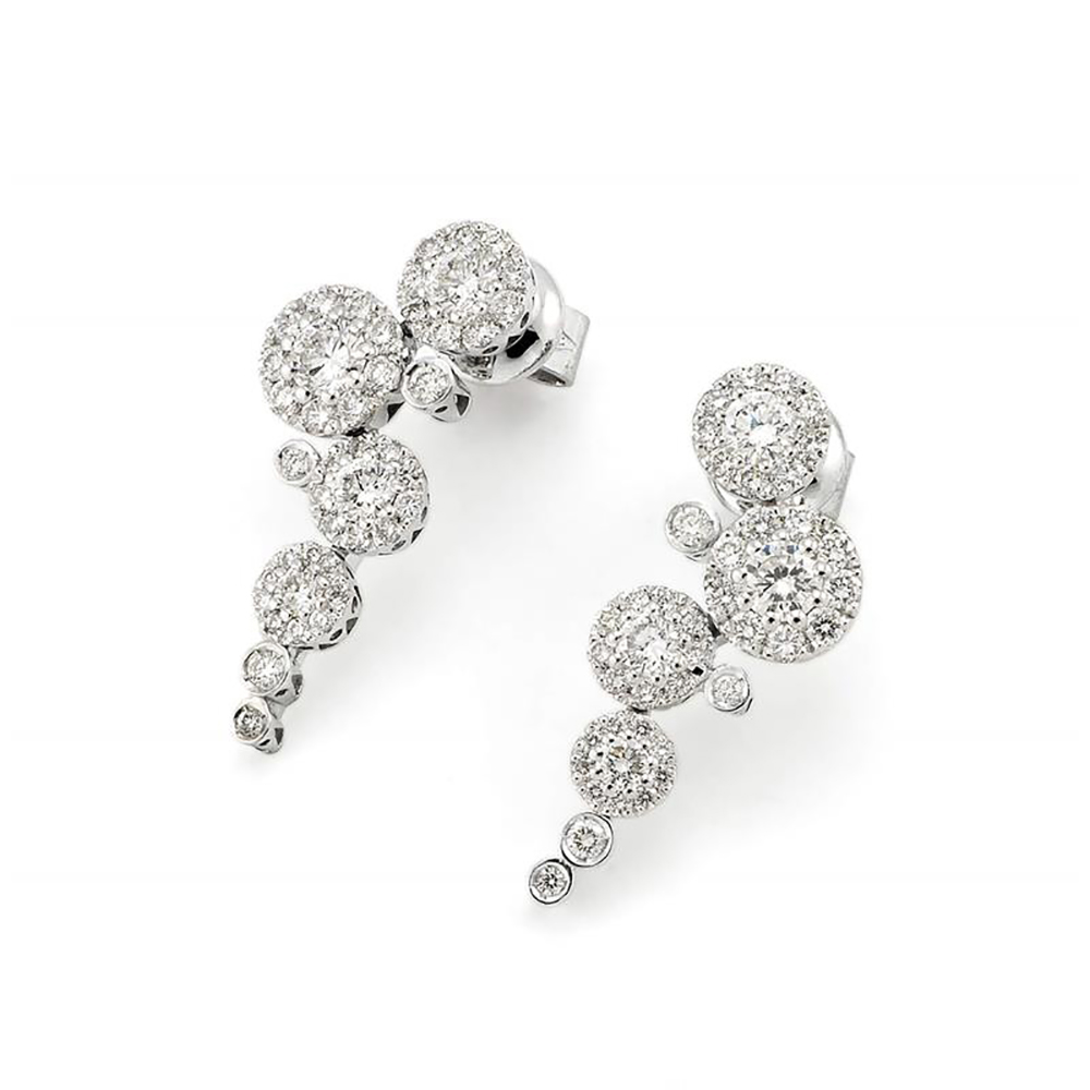 Pontevecchio earrings gold 18 kt diamonds CO854W