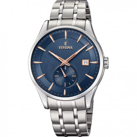 Festina man watch back stainless steel quad blue F20276/2