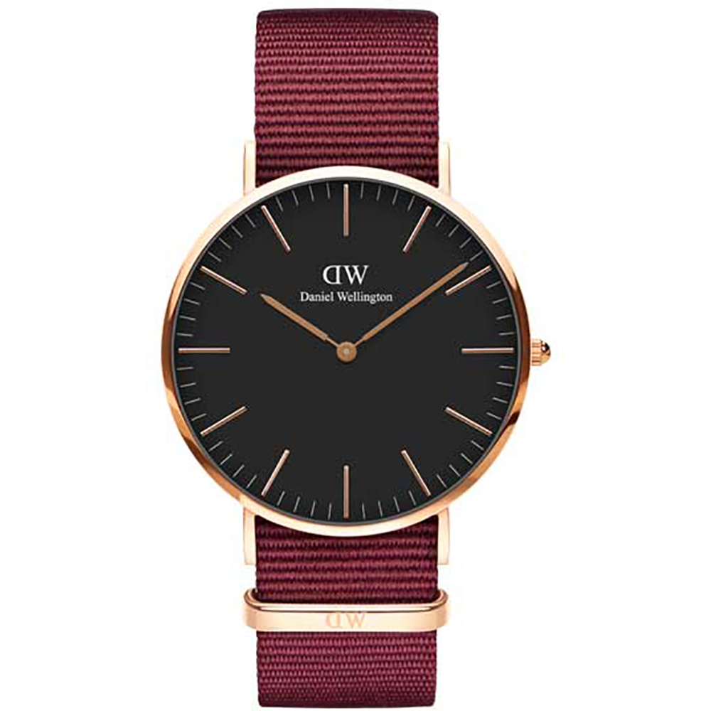 Daniel Wellington Classic Black 40mm Roselyn case pink DW00100269
