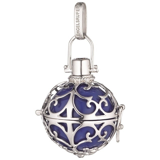 Engelsrufer charm called Angels silver ball purple customizable ER-07-L