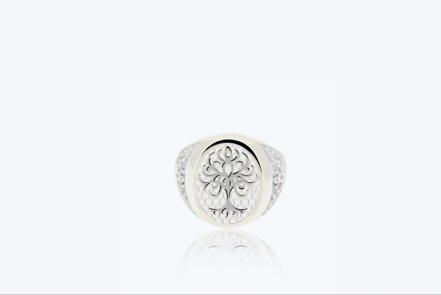 Ring Tree of Life medium size 925 Silver white 2A-ADV-B