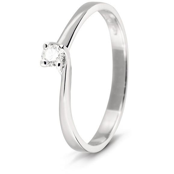 Bliss anello solitario diamante 0,14ct coll. Diva 20060620 mis.13