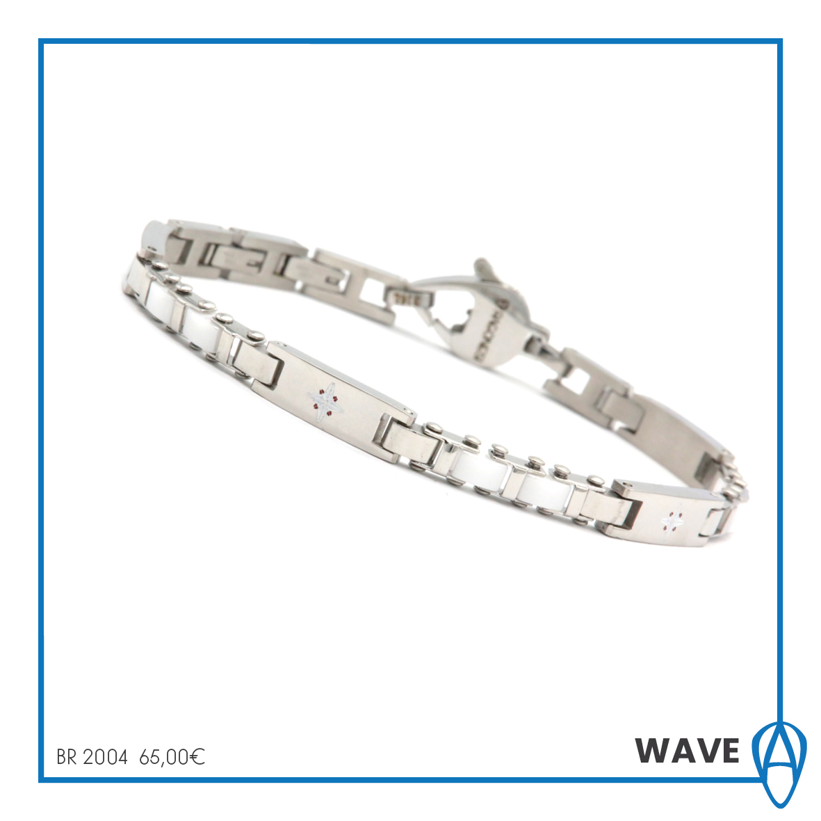 Bracelet Aragonese 316L stainless steel treatment ip white collection Wave BR2004
