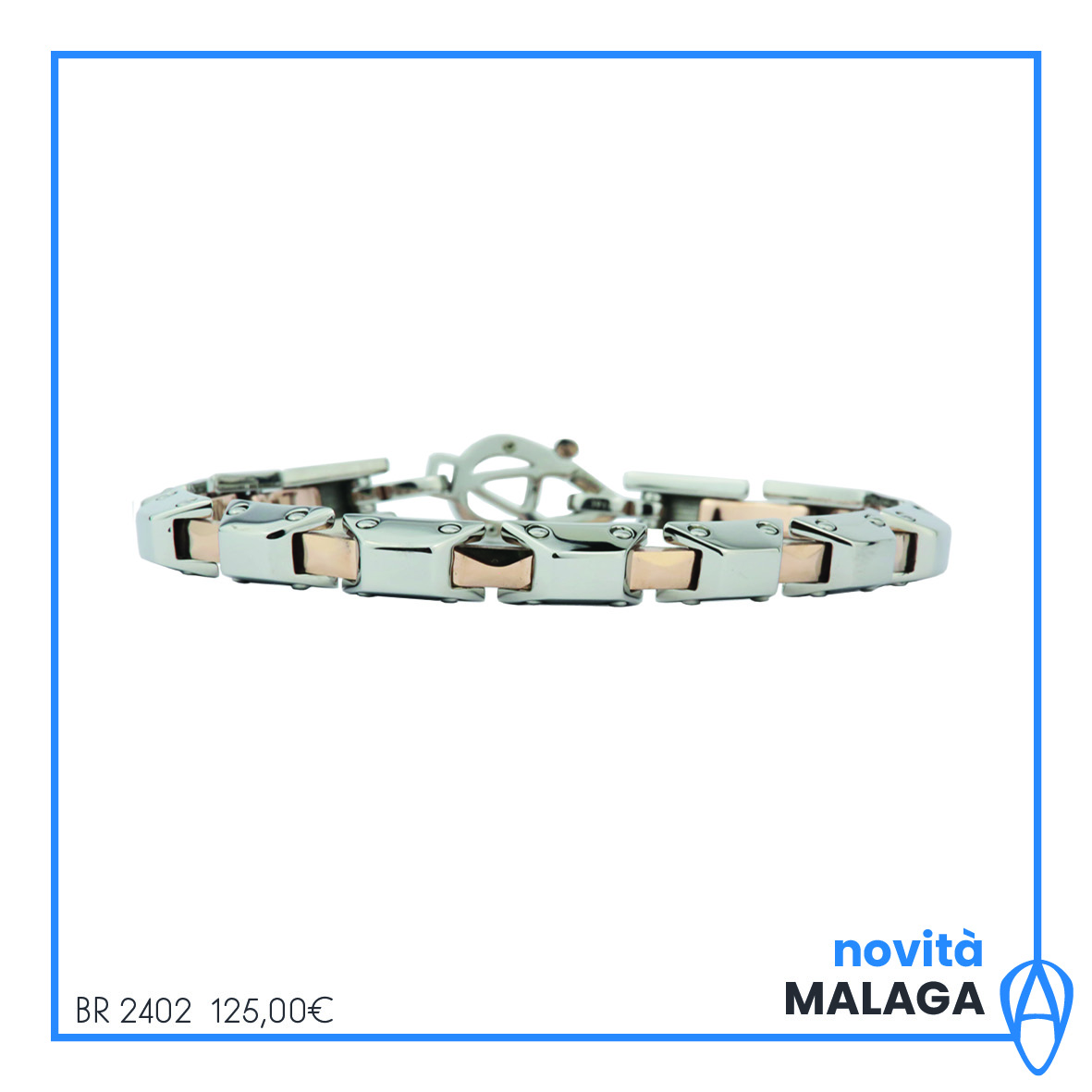 The aragonese bracelet 316l stainless steel treatment ip coffe malaga BR2402