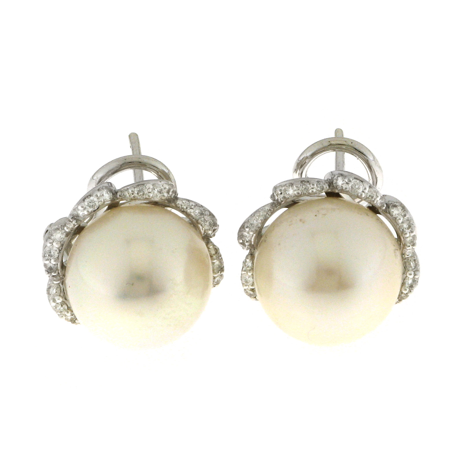 Chimento earrings in white gold with pearls 1O07026CC5009