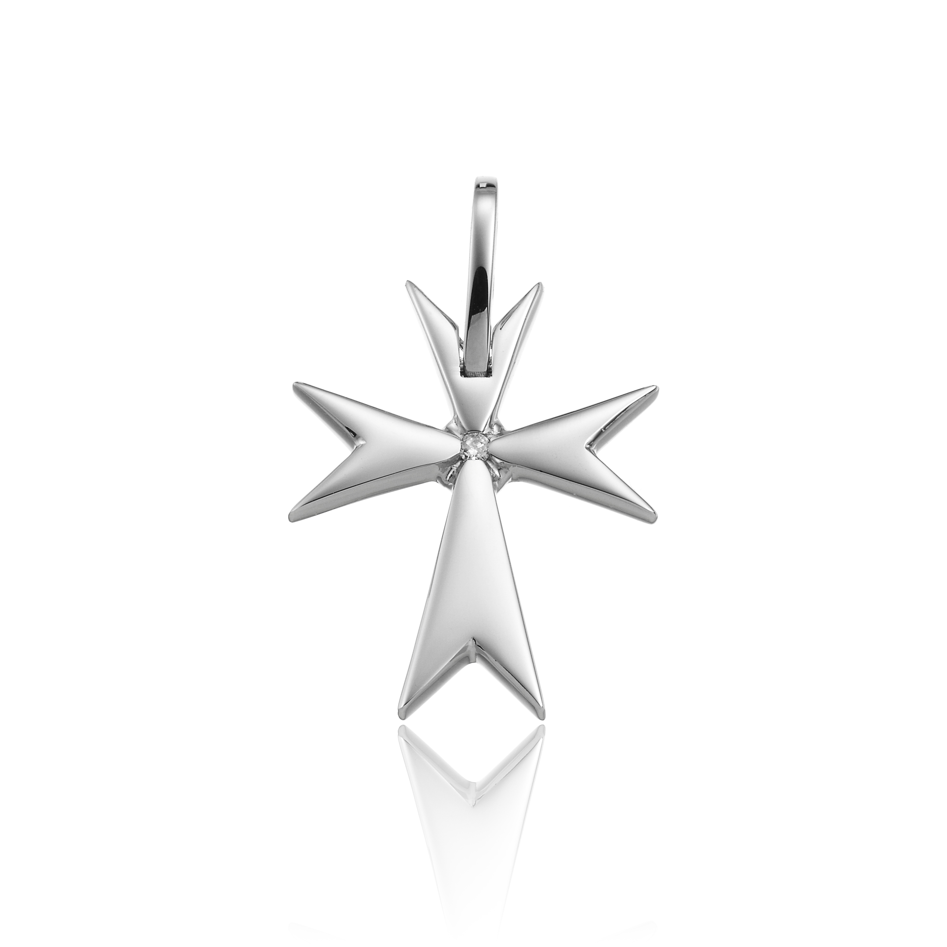 Chimento cross in white gold 18 kt diamonds 0.02 ct 1C01803BB5000