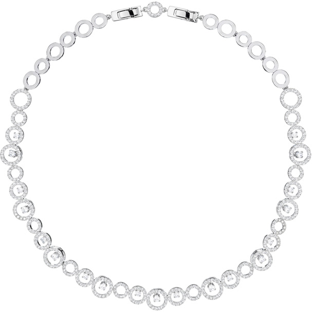 Swarovski Necklace Creativity, white, rhodium plating 5409476