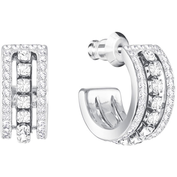 Swarovski Earrings Further, white, rhodium plating 5409658