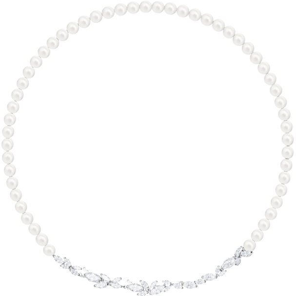 Swarovski Necklace Louison Pearl, white, rhodium plating 5414693