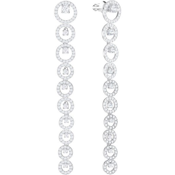 Swarovski Earrings, Creativity, white, rhodium plating 5414715