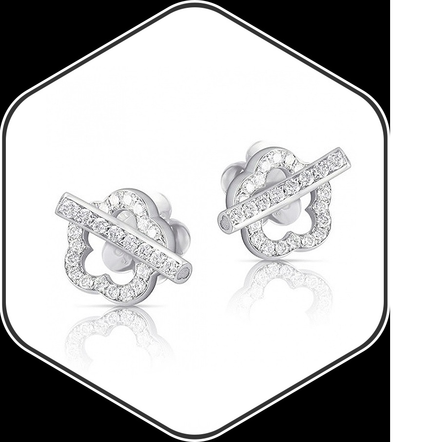Easter Brui earrings white gold and diamonds 15408b