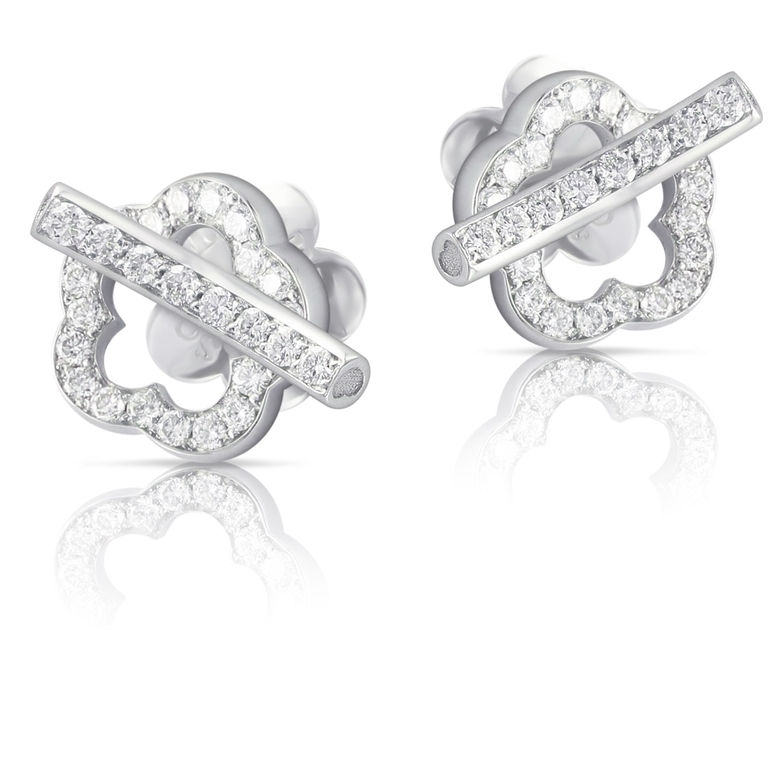 Easter Brui earrings white gold and diamonds 15416b