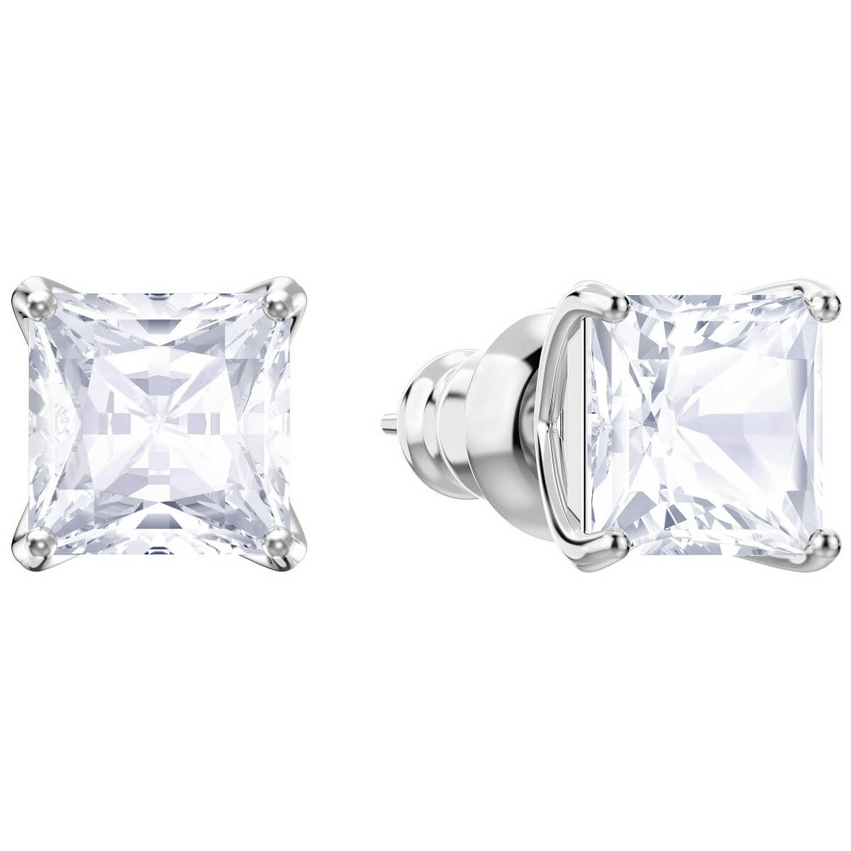 Swarovski Earrings Stud, Attract, white, rhodium plating 5430365