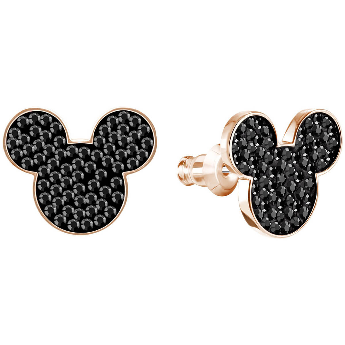 Swarovski Earrings Mickey mouse Minnie, black, pink gold-plated 5435137