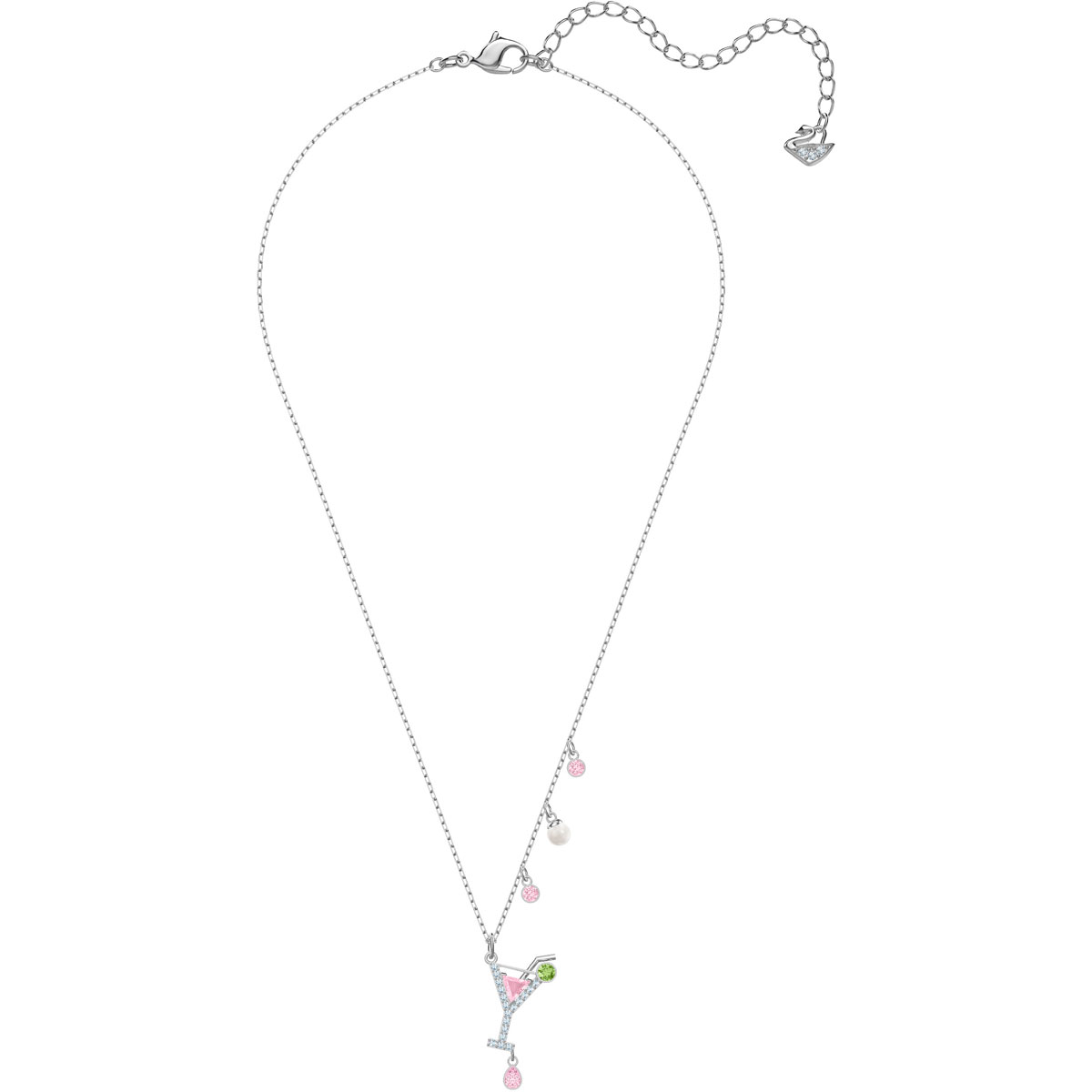 Swarovski Pendente No Regrets Cocktail, multicolore, placcatura rodio 5443012