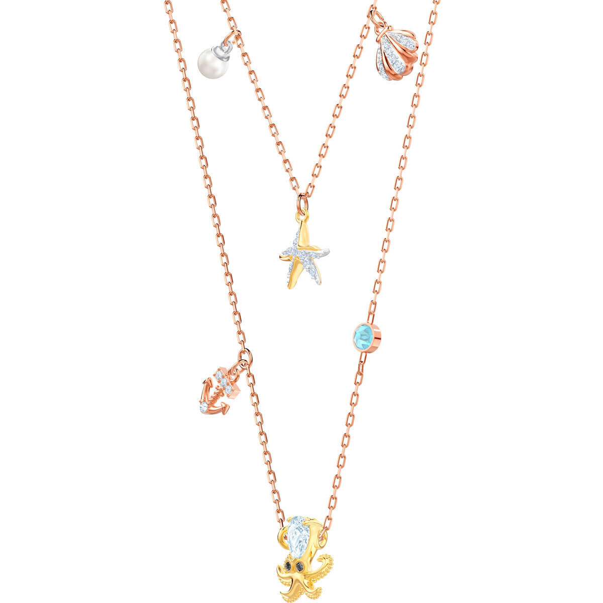 Swarovski Necklace, Ocean, and multicolor, the plating mixed 5446664