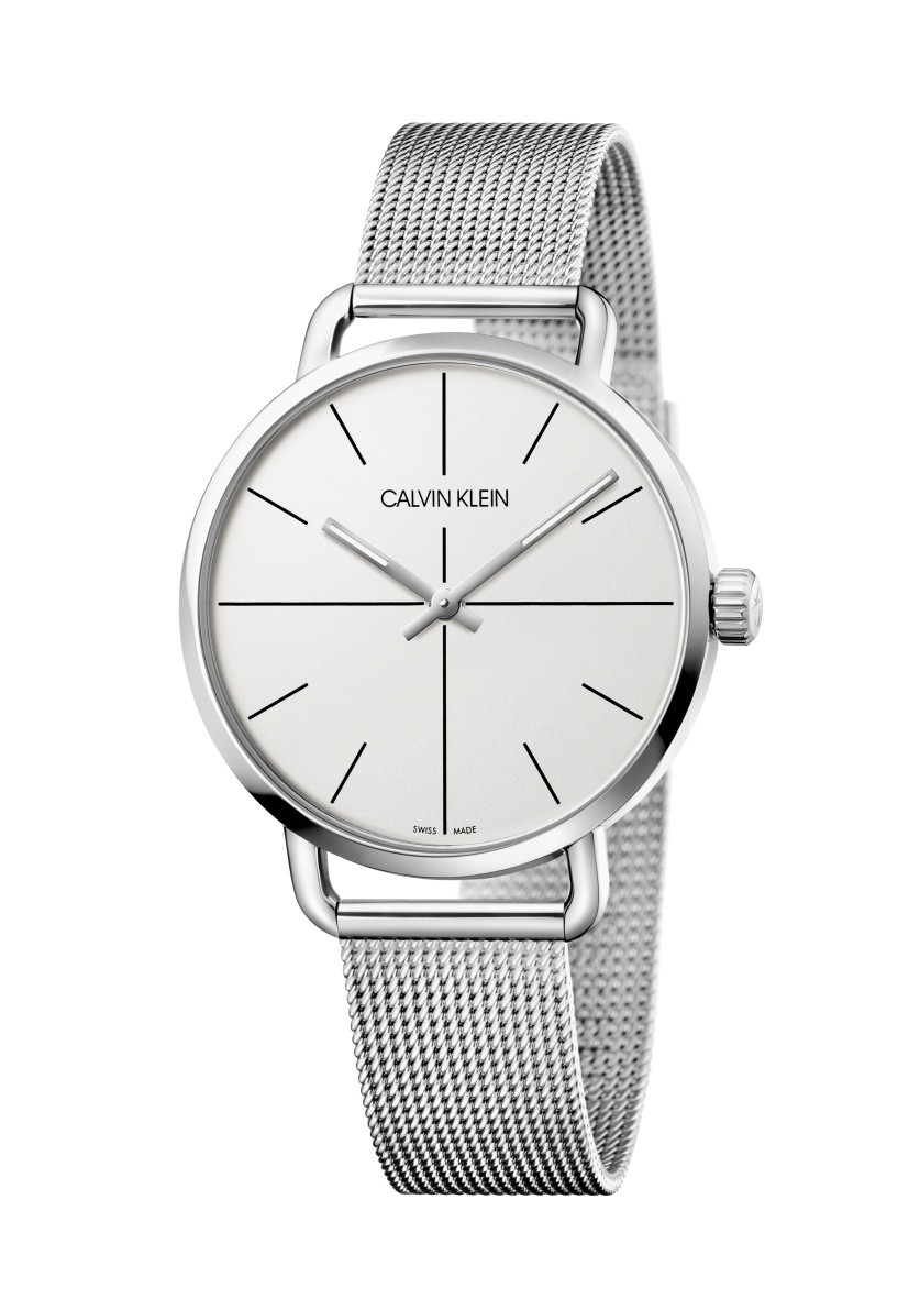 Calvin Klein man watch 42 mm stainless steel mesh milan even K7B21126