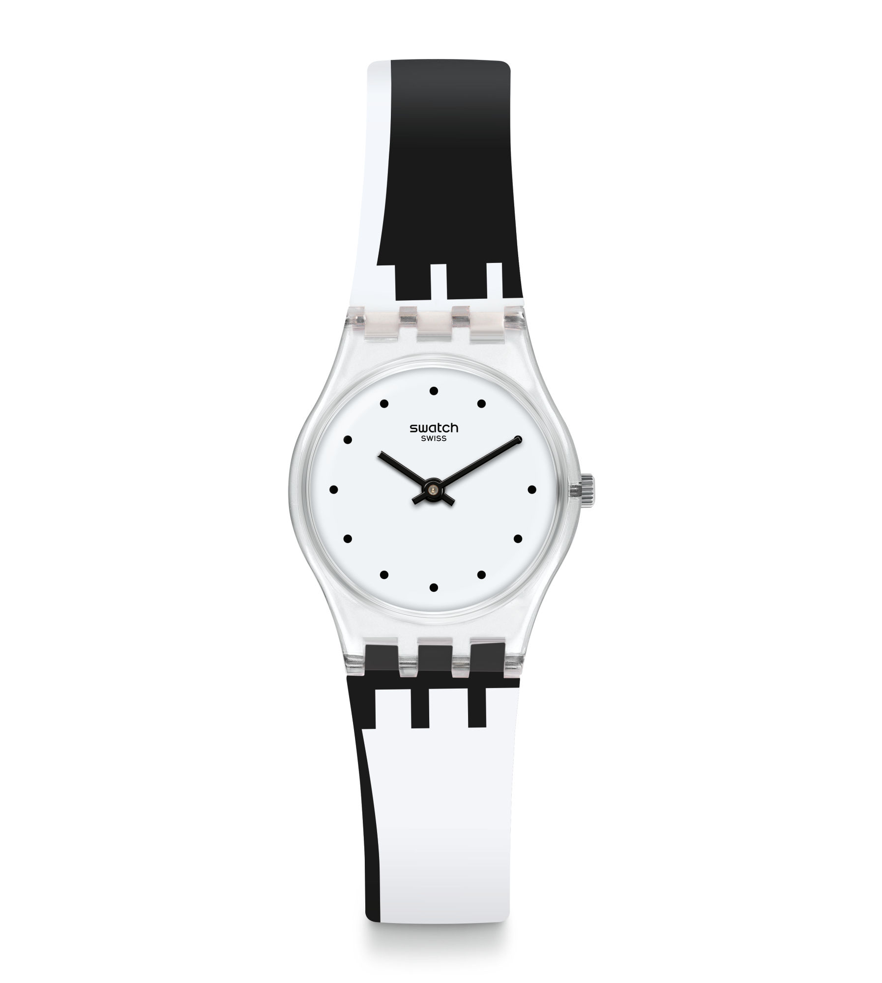 Swatch watch white black 25 mm DOT AROUND THE CLOCK LK370