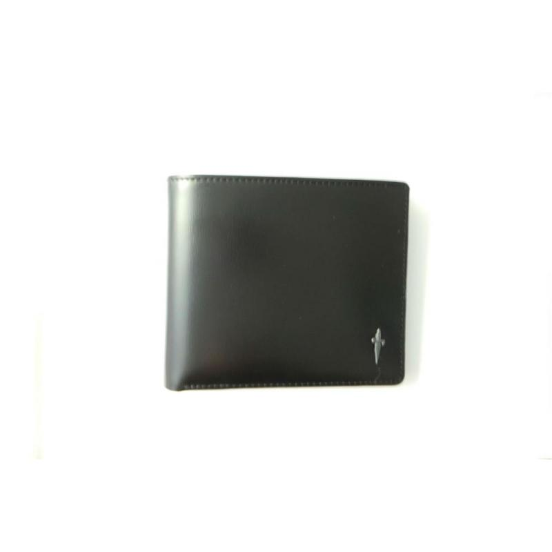 Cesare Paciotti wallet leather black with logo in silver 925 various SL0098