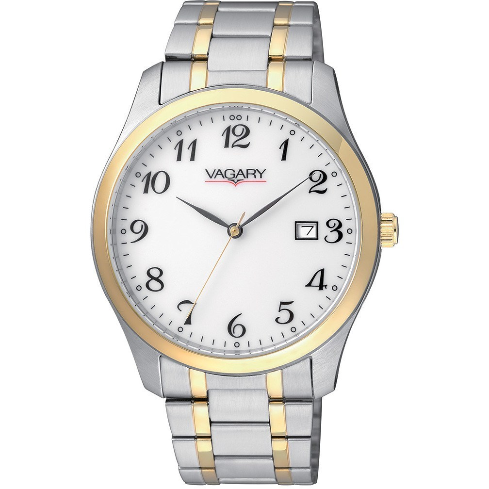 Vagary Watch stainless steel ladies bicolre date IH3-039-13