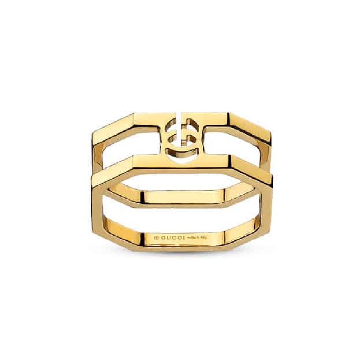 Gucci ring RUNNING G yellow gold size 14 YBC356318001