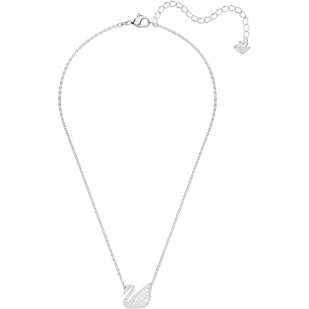 Swarovski Necklace Iconic Swan, white, rhodium plating 5416605